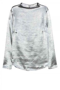 H&M Metallic Blouse, £19.99