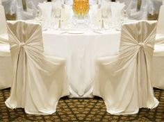 Brand New Ivory Universal Chair Covers For Sale   Weddingbee Classifieds