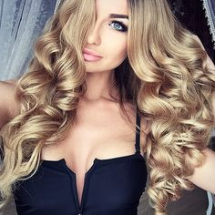 18 Inches Pre Bonded U/Nail tip Remy Human Hair Extensions-Light Beige Blonde( hair on point Ombré Hair, Hair Day, Her Hair, Love Hair, Gorgeous Hair, Gorgeous Blonde, Curly Hair Styles, Beige Blonde, About Hair