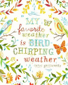 Bird+Chirping+Weather+++++vertical+print+por+thewheatfield+en+Etsy,+$18,00