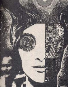 Nikolai Lutohin Illustration from the 1970s by the Yugoslavian born Russian artist Nikolai Lutohin. Many of his illustrations appeared in the Sci-fi magazine 'Galaksija'