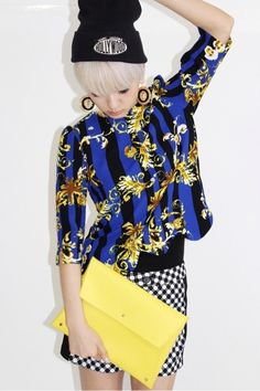 Baroque x checks - Japanese fashion this outfit is so coll i want it : )