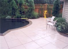 cut concrete pool deck - designed while I was Lead Designer at Cascade Design Group