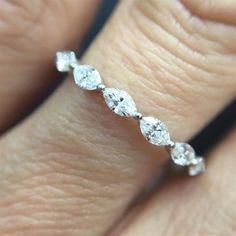 3-00CT-MARQUISE-DIAMOND-ETERNITY-RING-14K-WHITE-GOLD-WOMEN-039-S-ANNIVERSARY-BAND