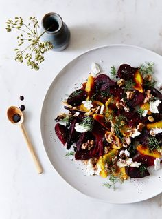 Roasted Baby Beets with Coffee-Balsamic Glaze from Kinfolk.