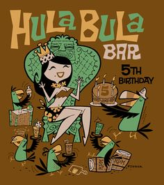 Art to celebrate the anniversary of the Hula Bula Bar in Australia