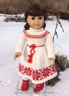 American Girl Doll Nordic Winter Dress