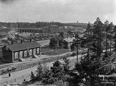 Pasilan veturitallit vuonna 1911. (BRANDER SIGNE HKM 1911/HELSINGIN KAUPUNGINMUSEO).