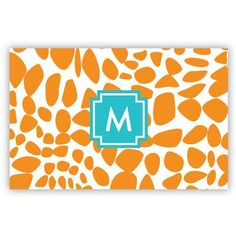 Whitney English Lizard Single Initial Laminated Placemat Letter: A