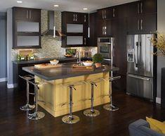 Small Kitchen Designs, Small Kitchens, Kitchen Ideas, Modern Kitchen, Dream  Kitchen, Hgtv Kitchens, Choose Kitchen, Room Kitchen, Eat In Kitchen