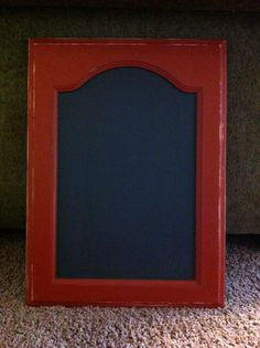 Chalkboard out of an old cabinet door.