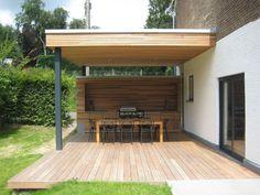Programme: création d'une terrasse couverte avec cuisine extérieure et barbecue intégré Stade actuel du projet: travaux... +