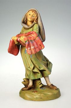 Vintage, Fontanini, 5 Scale, Gabriela, Nativity Figurine.  Dated 1994, this piece has typically remarkable, Fontanini detail. Condition is Excellent, with no chips, cracks, breaks, or repairs. Complete w Box and Story Card.  Hand Signed by Sculptor  Has Fountain Mark.  Please See Photos to Fully Appreciate.  A Lovely addition to Any Nativity or Fontanini Collection.