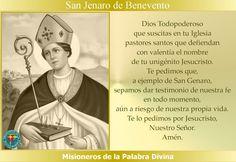 MISIONEROS DE LA PALABRA DIVINA: SANTORAL - SAN JENARO DE BENEVENTO