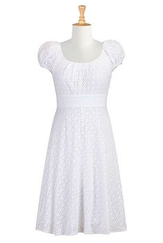 Floral eyelet dress - I'd prefer it in another color, but it's just so cute and feminine!