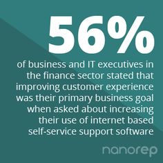 Customer experience matters and is becoming a priority for executives #customerexperience #customercare #selfservice www.nanorep.com Self Service, Business Goals, Customer Experience, Priorities, Numbers, Finance, How To Become, Self Care