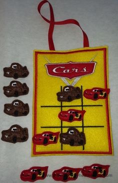 CarTic Tac Toe Game IN THE HOOP Machine Applique Embroidery Design, $7.00