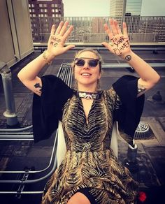 Lady Gaga during the total eclipse of Aug. 21st 2017