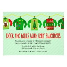 25 Best Ugly Sweater Party Invitations Images On Pinterest