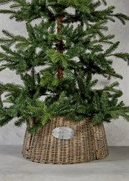 Longacres Woven Wicker Christmas Tree Skirt