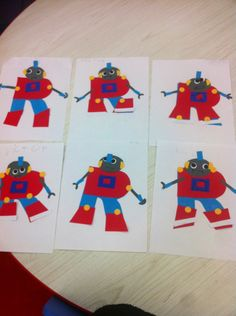 R is for robot Teaching Abcs, Preschool Learning, Preschool Ideas, Preschool Crafts, Letter R Crafts, Abc Crafts, Letter Art, Preschool Letters, Alphabet Activities