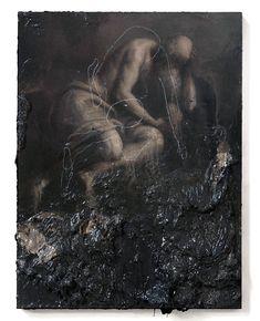 2014, oil on wood, 40 x 30 cm nicola samori paintings sculptures  plastic arts, visual arts, fine arts, art