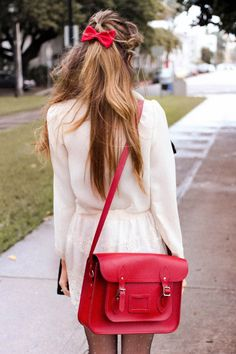red satchel