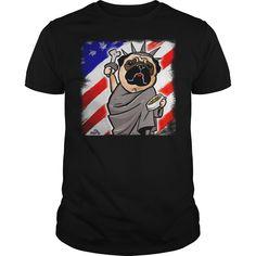 Independence Day Pug  #4thofjuly #tshirt  #4thOfJuly #USA #july4th #shirt