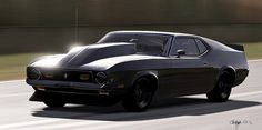 1971 Ford Mustang Mach 1 (Black Beast)