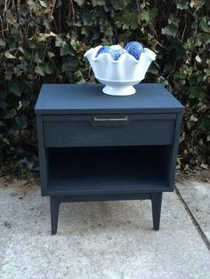 Side Table with a fresh coat of paint.  Check out Knot your usual furniture at https://m.facebook.com/profile.php?id=238525842988129
