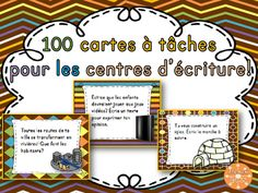 100 French Writing Task Cards - 100 cartes à tâches pour l Writing Lessons, Teaching Writing, Writing Activities, Teaching Tools, French Education, Education And Literacy, Teaching French Immersion, First Year Teaching, Pomes