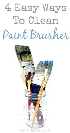 4 Easy Ways To Clean Paint Brushes – Vintage Household Tip | The Graphics Fairy