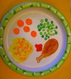 Keeping busy in a restaurant! Bring a stack of paper plates and let your child create a dinner for everyone with markers or crayons!