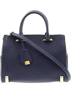 this zac posen barrel bag in navy? done. // 25% off during Piperlime's designer sale with code 'DESIGNER'