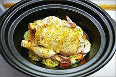 Kyckling i Crock Pot 10 Crock Pot Slow Cooker, Yummy Yummy, Pork, Turkey, Meat, Kale Stir Fry, Turkey Country, Pork Chops