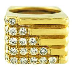 Bold Diamond and Gold Ring #rings
