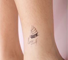 quote tattoo ideas about love - Love yourself with boat tattoo on ankle – The Unique DIY short tattoos quotes which makes your home more personality. Collect all DIY short tattoos quotes ideas on love yourself, boat to Personalize yourselves. Body Art Tattoos, Girl Tattoos, Mum Tattoo, Tattoo Transfers, Tattoos For Women Small, Small Tattoos, Ankle Tattoo, Couple Tattoos, Temporary Tattoo