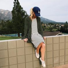 "1,638 Likes, 14 Comments - Leanne Barlow | Elle Apparel (@leannebarlow) on Instagram: ""A Saturday full of ⚾️'s and 's. I'm ready to live in striped dresses this spring! I found a…"""