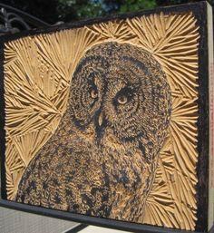 Great Gray Owl, #Draw365.258 by JuliaForsythArt, via Flickr