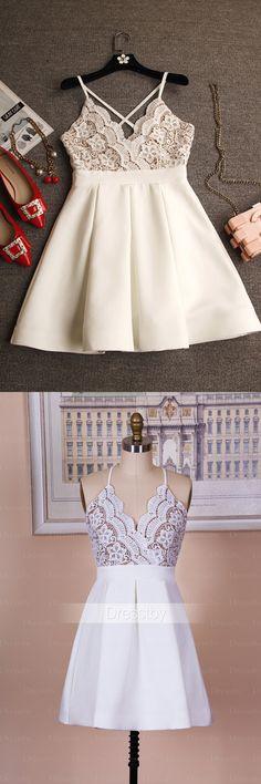 short white homecoming dress, 2017 short party dress, dancing dress