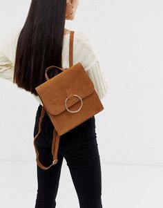 Buy Missguided faux suede ring detail backpack in camel at ASOS. Get the latest trends with ASOS now. Camel Backpacks, Missguided, Fashion Online, Chloe, Shoulder Bag, Rings, Women, Fallow Deer, Ring