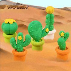 5 Unids/lote Novedad Cactus Lápices Gomas de borrar Para Regalos de Los Niños No tóxico Seguro Gomas De Borrar Material Escolar Escolar