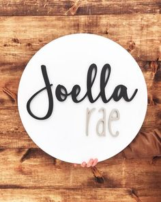 Baby Name Generator - 24 Circle Custom Wood Name Sign / Custom Signs / Nursery Sign / Round Sign / Baby Name Sign / Woode - Baby Girl Names Unique, Boy Girl Names, Unisex Baby Names, Cute Baby Names, Unusual Baby Names, Unique Baby, Baby Names For Girls, Unique Vintage, Wood Name Sign