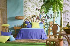Deixa't portar per l'energia, la lluminositat i els colors salvatges de la col·lecció Energy. Summer 2014, Spring Summer, Tapestry, Interior Design, Home Decor, Environment, Cowls, Design Interiors, Tapestries