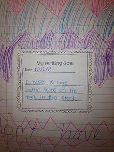 Free Writing Mini Lesson #13 on writing goals.