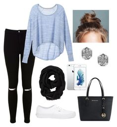 """""""Casual school day"""" by lindacoker ❤ liked on Polyvore featuring Miss Selfridge, Victoria's Secret, Old Navy, Vans, Michael Kors and Kendra Scott"""