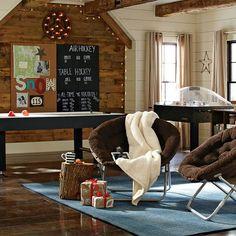 PB Teen Game Room/ garage apartment? Teen Lounge Rooms, Teen Hangout Room, Teen Game Rooms, Pb Teen, Garage Game Rooms, Garage Playroom, Kid Playroom, Playroom Ideas, Basement Ideas