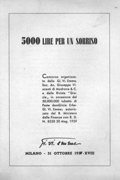 Cartoline dal Ventennio - 5000 lire per un sorriso
