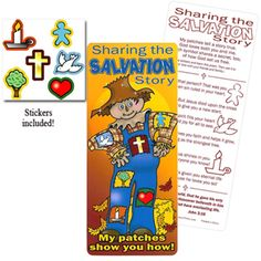 Sharing the Salvation Story - Fall Festival or Halloween Bookmark and Stickers $.59 from CTAinc.com.  Something with meaning for Trick or Treat or Trunk or Treat.