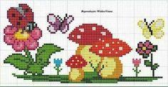 Mushroom cross stitch.
